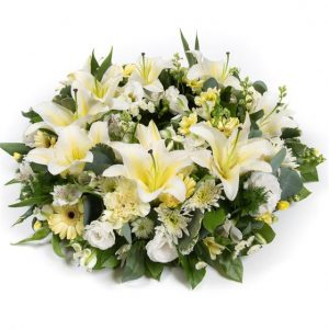 Lemon & White Wreath